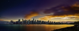 A new post processing take on one of my older panoramas of downtown Vancouver. Prints can be purchased here.