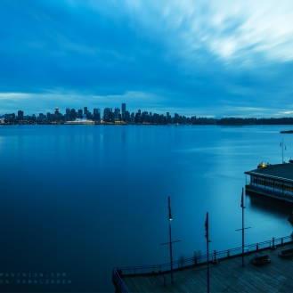 Panorama shot from Lonsdale Quay in North Vancouver.