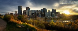 A panorama of downtown Calgary at sunset, shot in October 2015. Prints of this can be purchased here.